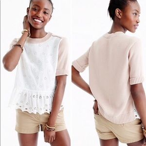 J.Crew shorts sleeve Sweater